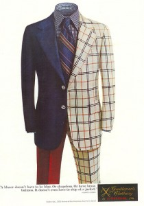 Classic ad for Corbin suits found via Styleforum